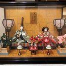 新古品・保管品のガラスケース入りお内裏様ひな人形