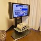 SHARP AQUOS32インチ液晶TV! 壁寄せスタンド付き! ...