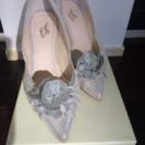 女性 靴 シルバー 22.5センチ vanilla essence