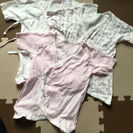 新生児用肌着セット(ピンク系)