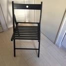 【美品】IKEA 折りたたみ椅子(黒)