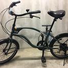 【値下げ!】新古車!屋内保管の自転車!!HUMMERビーチクルーザ...