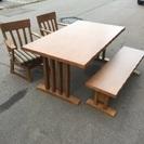 ニトリ 天然木 ダイニングテーブルセット 食卓テーブル