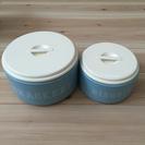 【新品】ホーロー缶 大小 2個セット