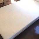 【値下げ*ほぼ新品】セミダブルマットレスベッド