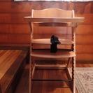 木製ベビーチェア。組み立て済みです。