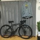 シクロクロスバイク FUJI feather cx ガンメタ