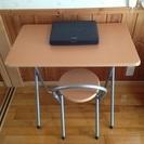 折りたたみ机&椅子セット W80×D50×H70 中古