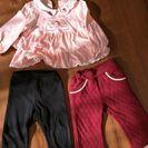 80センチ 女の子服とズボン