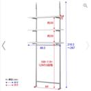 突っ張り式スペースラック 3段 幅89.5cm《中古品》
