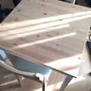 IKEA LERHAMN ダイニングセット テーブルと椅子2脚セット