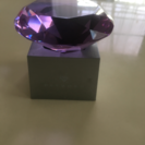 ダイヤモンド型ガラス置物 ライト付台