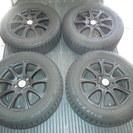 【冬タイヤ】 205/65R16 ウェッズジョーカー 黒塗装 BS...