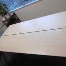 会議机 木目調の薄い茶色2台セット