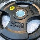 【新品未使用】 オリンピック ラバープレート 15kg x 2枚 ...