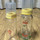 ガラス哺乳瓶2個セット