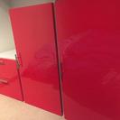 収納家具 ★ 赤い棚3点セット