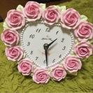 バラの掛け時計。置き時計にも◎