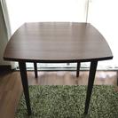 unico HOLM ダイニングテーブル(W80、ウォールナット)