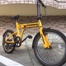 HUMMER(ハマー) 20インチ 折りたたみ自転車 イエロー 6...