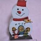 (美品)ブリキのスノーマン雑貨Aタイプ クリスマス雑貨
