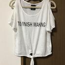 肩開き Tシャツ ホワイト