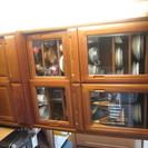 チーク柄食器棚
