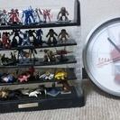 ガンダムセット 時計、フィギュア、フィギュアケース