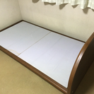 【中古】木製シングルベッド