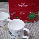 マグカップ×2個 キャンドルスタンド1個 クリスマスにいかがですか?