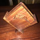 木のコースター6枚(四角)
