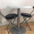 コーヒーテーブル+椅子*2