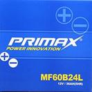 ほぼ新品 カーバッテリー PRIMAX MF60B24L
