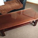 【中古】木製 ローテーブル/ダイニングテーブル