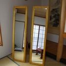 中古木製スタンドミラー【 幅38cm 高さ151.5cm厚さ2cm...