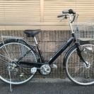 【372】【整備済】軽快車 27インチ シマノ製外装6段ギヤ オー...