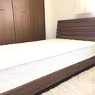 ☆木製 シングルベッド(マットレス付)