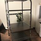 美品🌟レンジ台 キャスター付 食器棚
