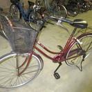 26インチ M字ハンドル赤自転車