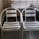 【至急】ガーデンテーブル&チェアー3点セット