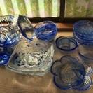 ガラス食器まとめ売り(ブルー)
