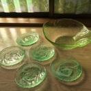 ガラス食器まとめ売り(グリーン)