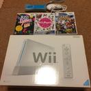 Wii本体フルセット+ヌンチャク・リモコン+ソフト3本