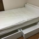 ニトリ セミダブル ベッド フレーム&マットレス