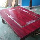 鉄板付きテーブル お好み焼き もんぢゃ ガス 鉄板焼き