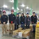 冷蔵倉庫での加工済食品の仕分け作業