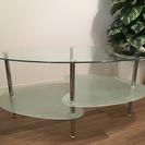 センターテーブル ガラステーブル 95cm 北欧風 FLORA