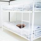 金属製二段ベッド ホワイト・ブラック