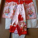 女児の宮参り用の着物