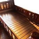 木製2段ベッドはしご付き